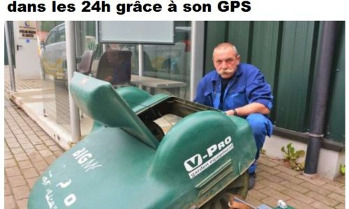 La police retrouve une tondeuse robot dans les 24h grâce à son GPS